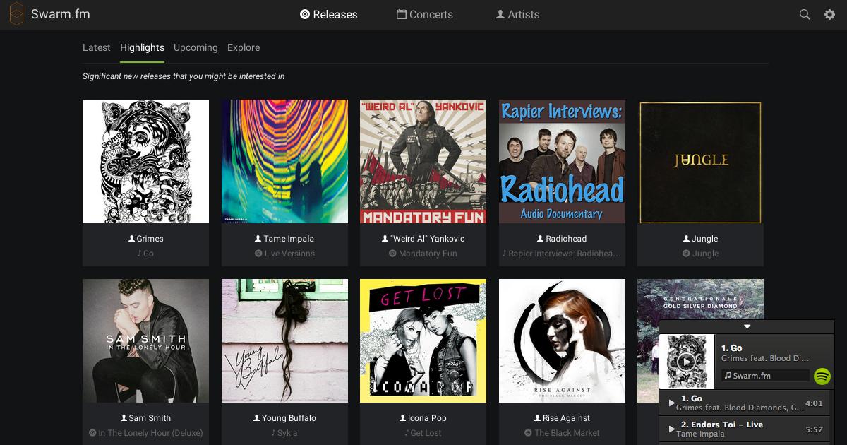 Music APIs - Swarm.fm